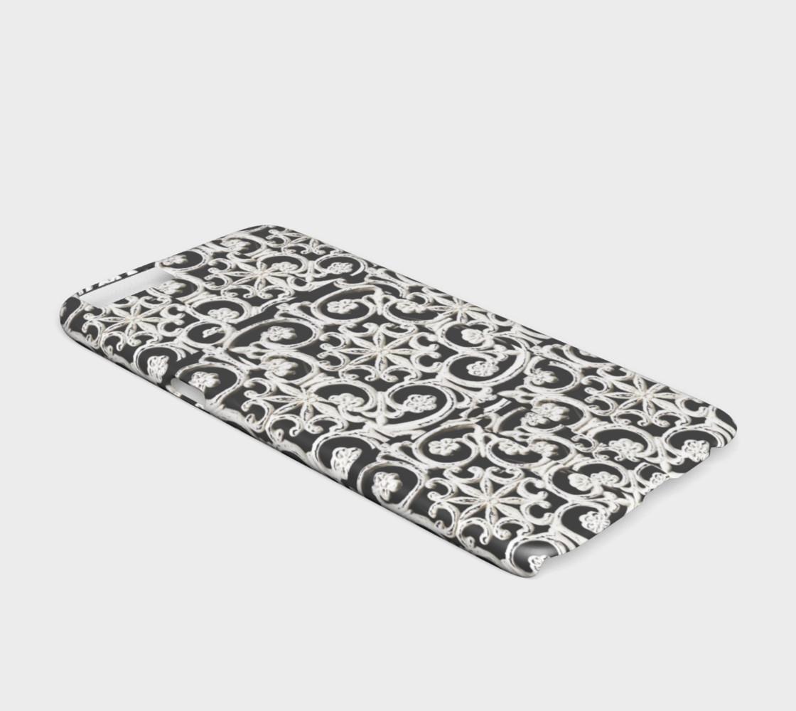 Pretty white designs on iPhone 6 case preview #2