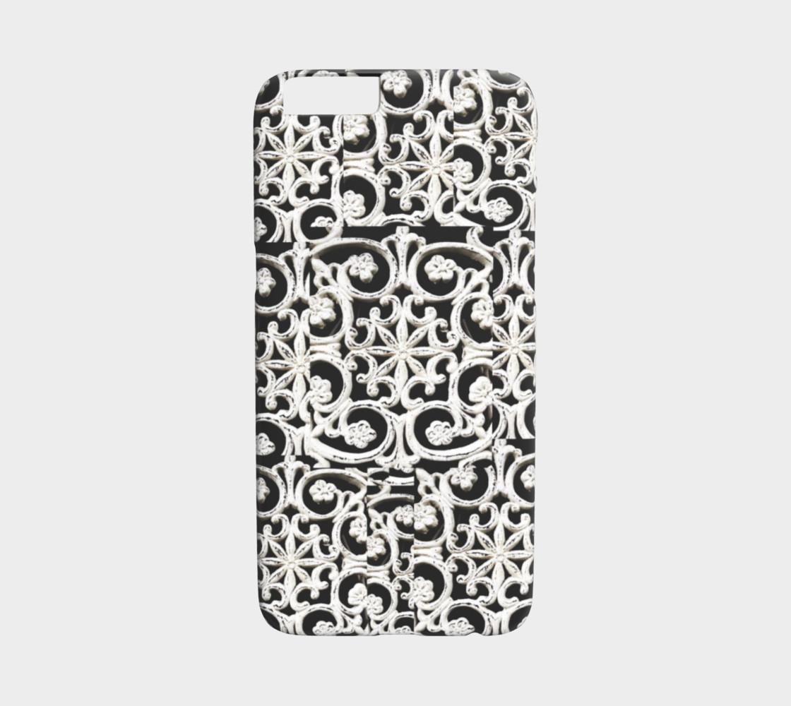 Pretty white designs on iPhone 6 case preview #1