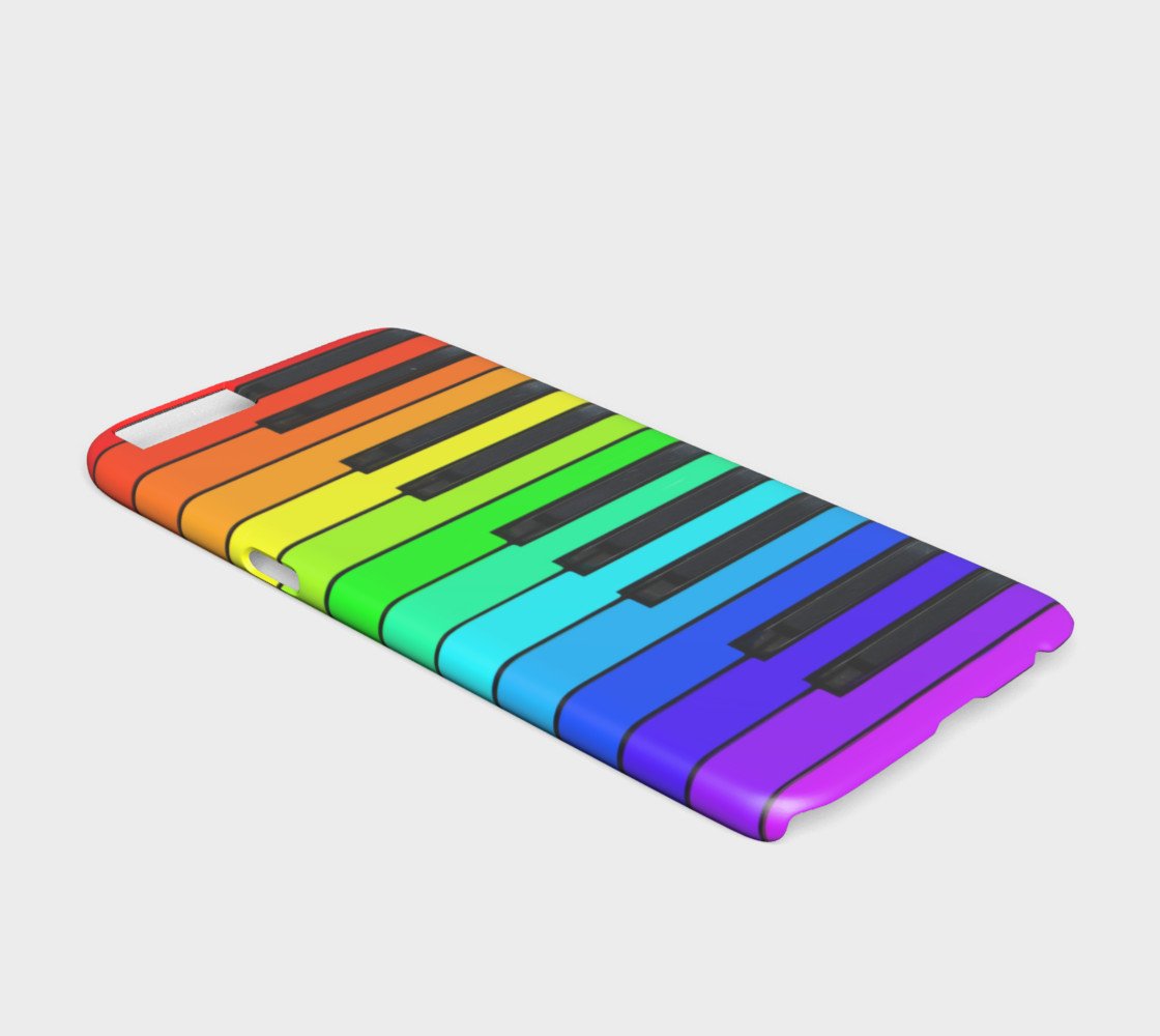 Aperçu de Rainbow Piano Keyboard iPhone 6 Case #2