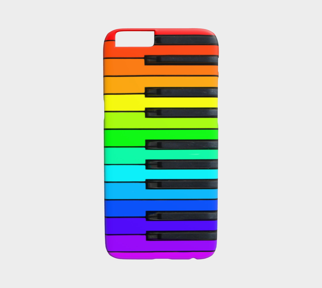 Aperçu de Rainbow Piano Keyboard iPhone 6 Case #1