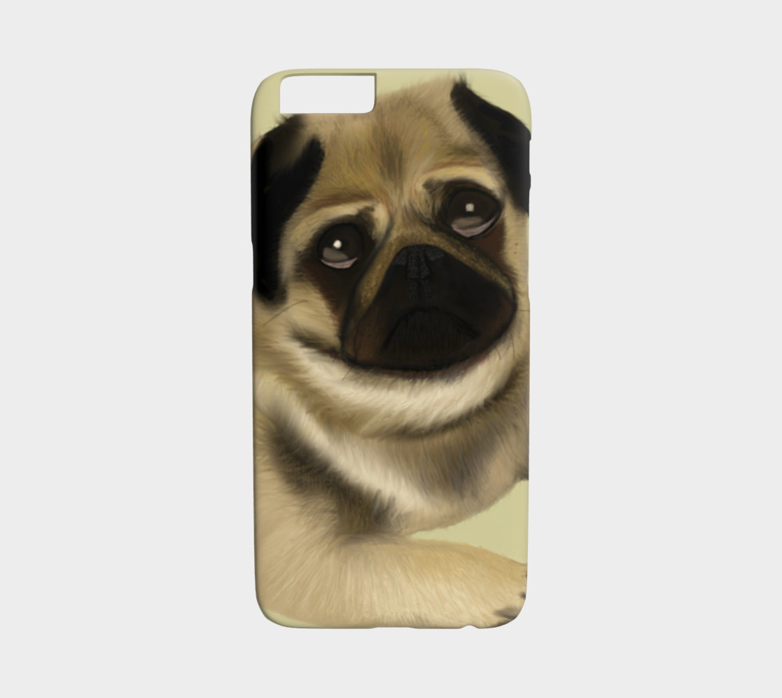 Aperçu 3D de Pug Love iPhone 6 / 6S Case