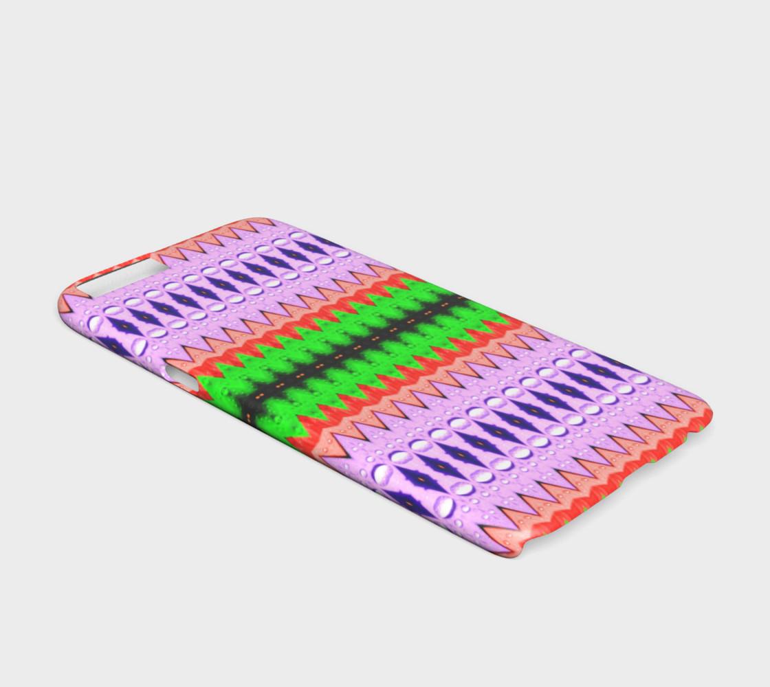 Purple, Green & Orange Zigzag Tribal Pattern iPhone 6 /6S Case preview #2