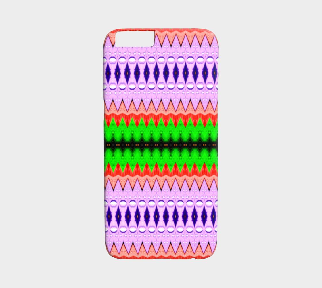 Purple, Green & Orange Zigzag Tribal Pattern iPhone 6 /6S Case preview #1
