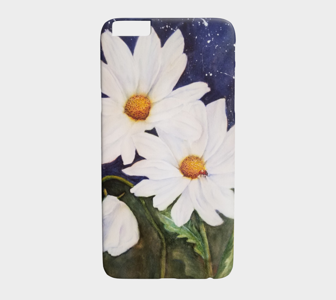 White Daisies with Red Ladybug preview #1