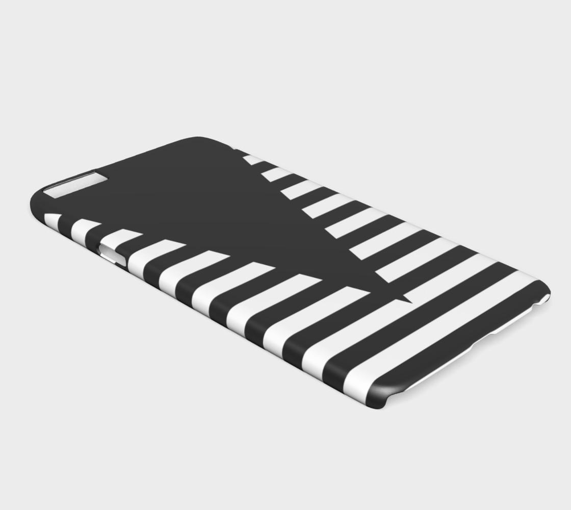 Aperçu de White Black Stripes Big Triangle iPhone6plus #2