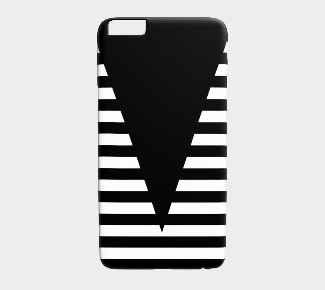 Aperçu de White Black Stripes Big Triangle iPhone6plus #1