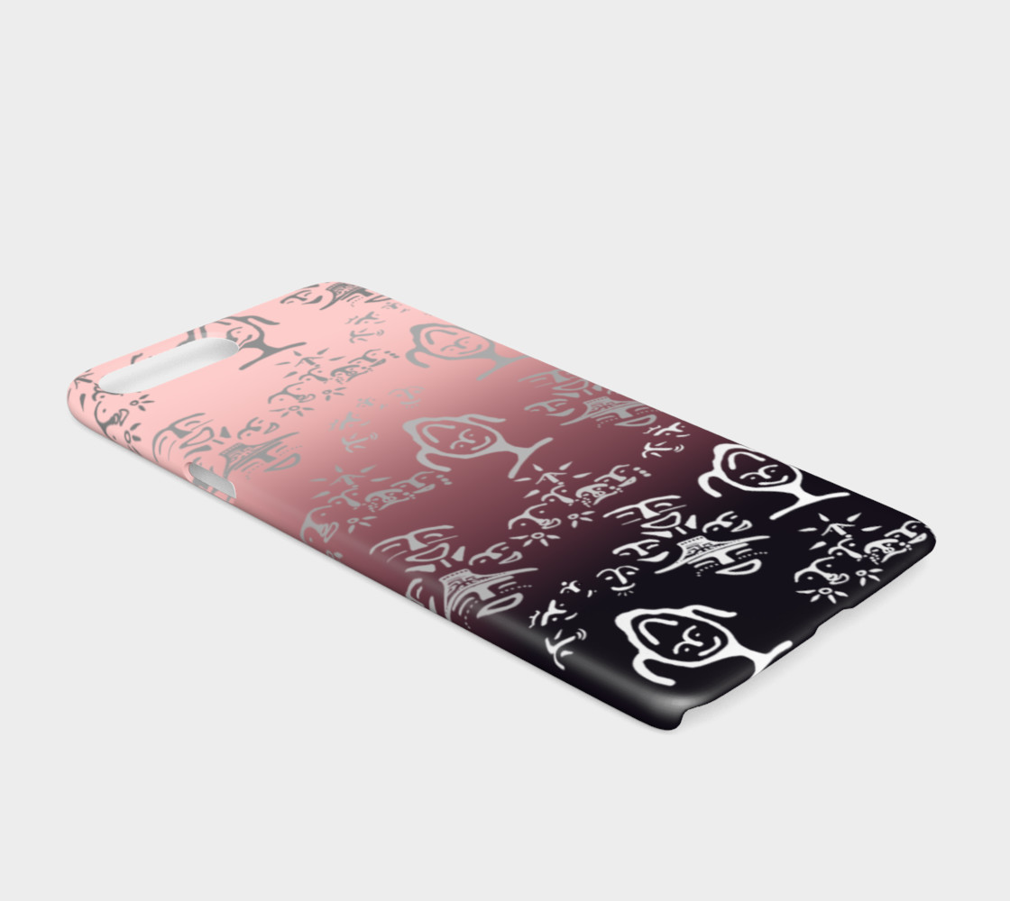iPhone 7/8 Pink OMBRE petroglyph mash up preview #2