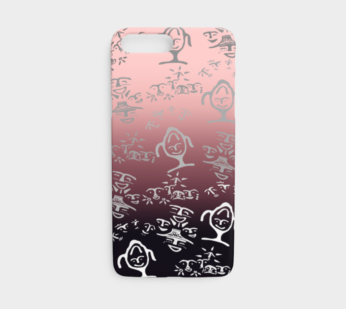 iPhone 7/8 Pink OMBRE petroglyph mash up preview #1