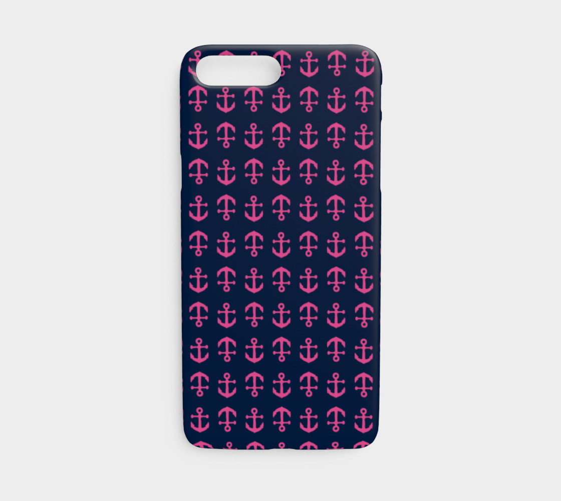 Anchor Toss - Pink on Navy preview #1