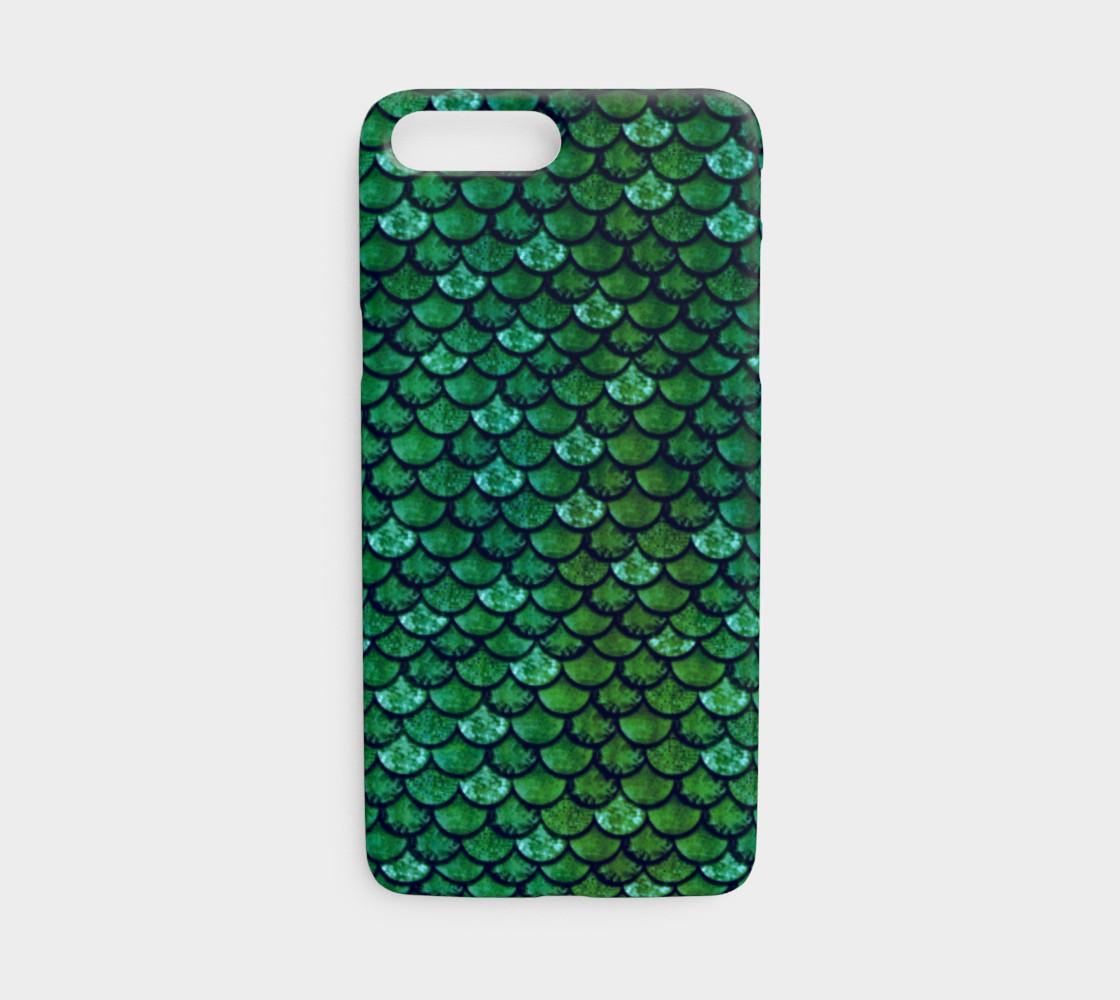 Aperçu de Glitterfish Green Phone Case #1