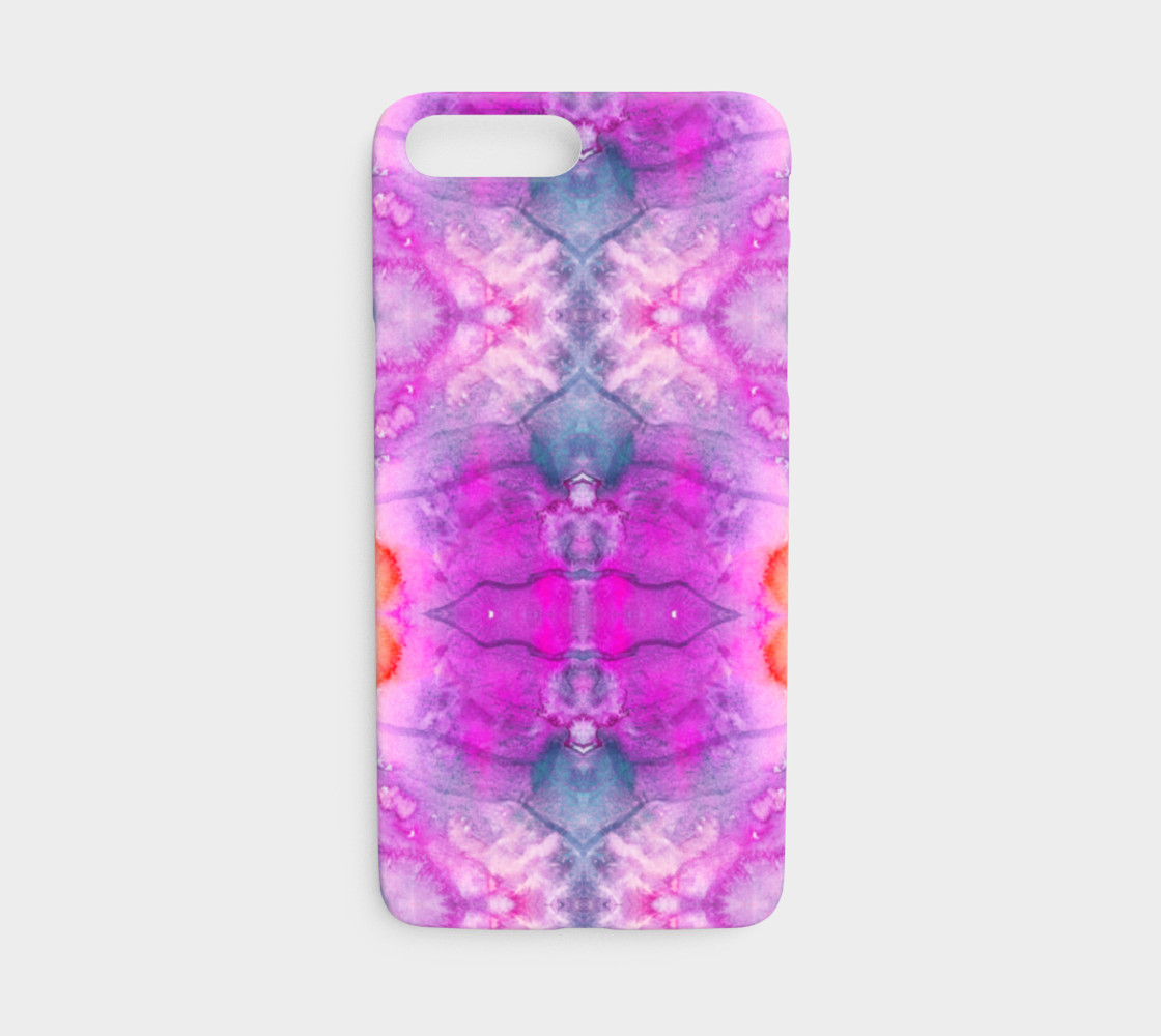 Aperçu de Hot Pink Watercolor Kaleidoscope iphone7/8 #1