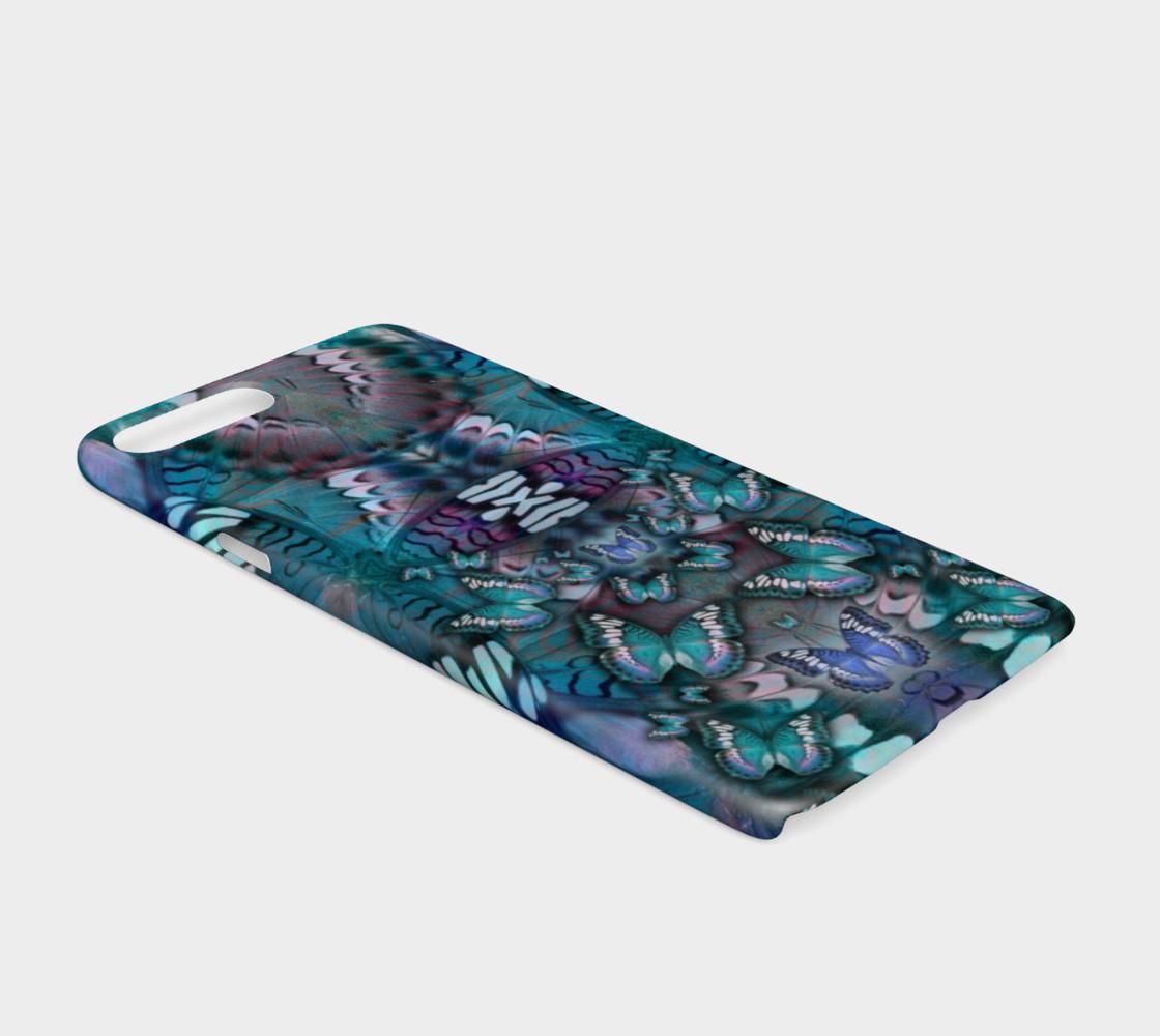 Aperçu de Blue Butterfly iphone case #2