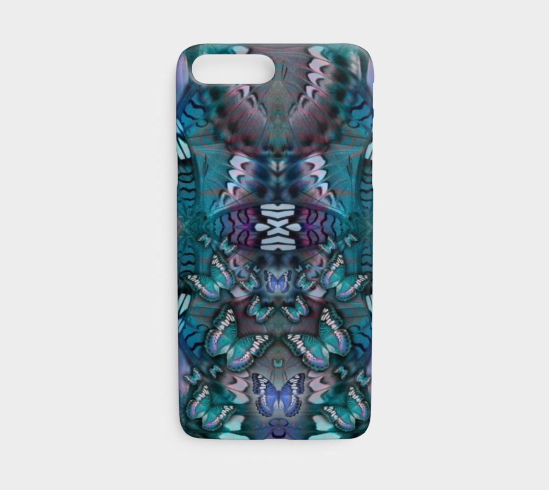 Aperçu de Blue Butterfly iphone case #1