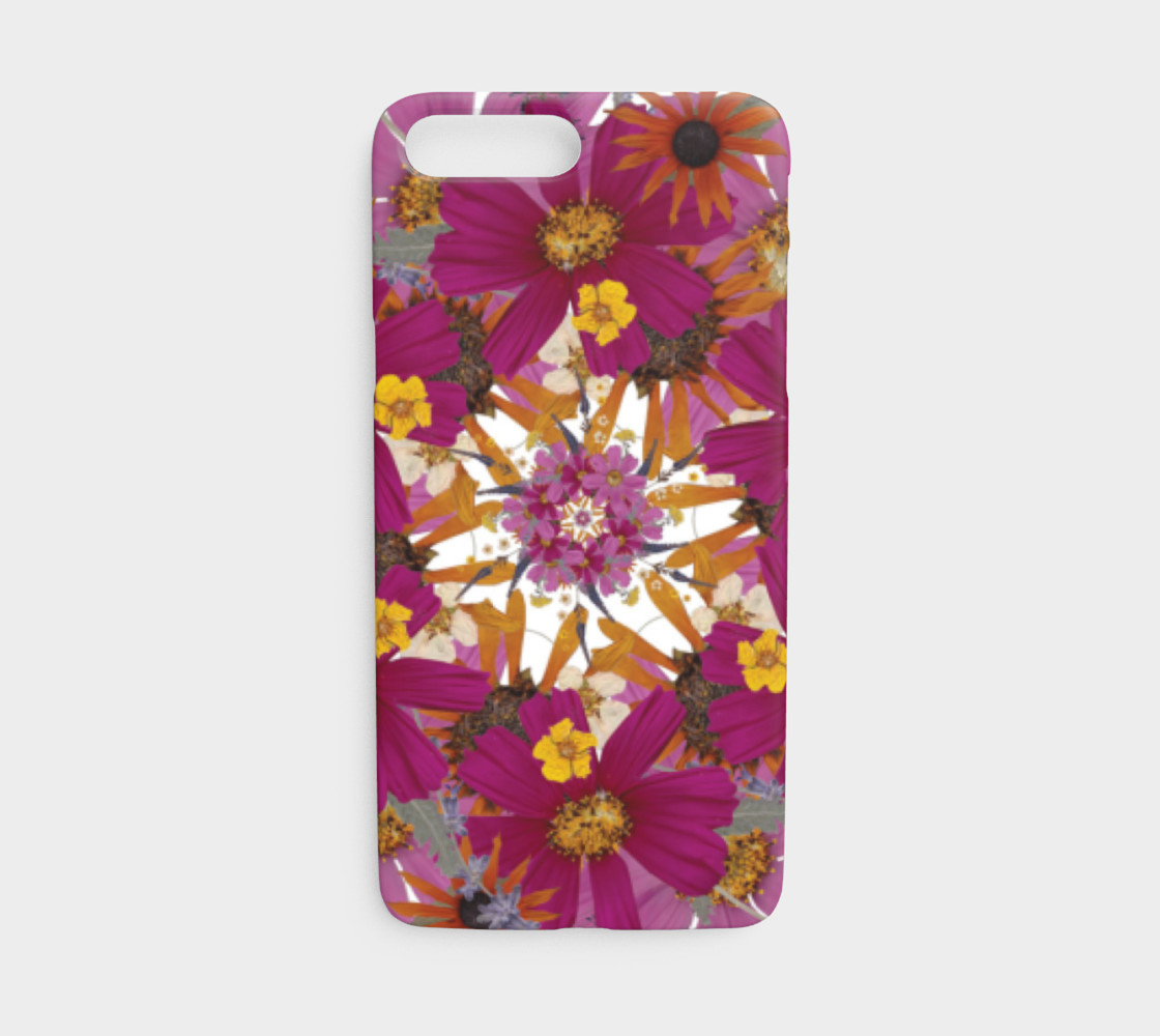 Aperçu de Pressed Flower Mandala iphone case #1