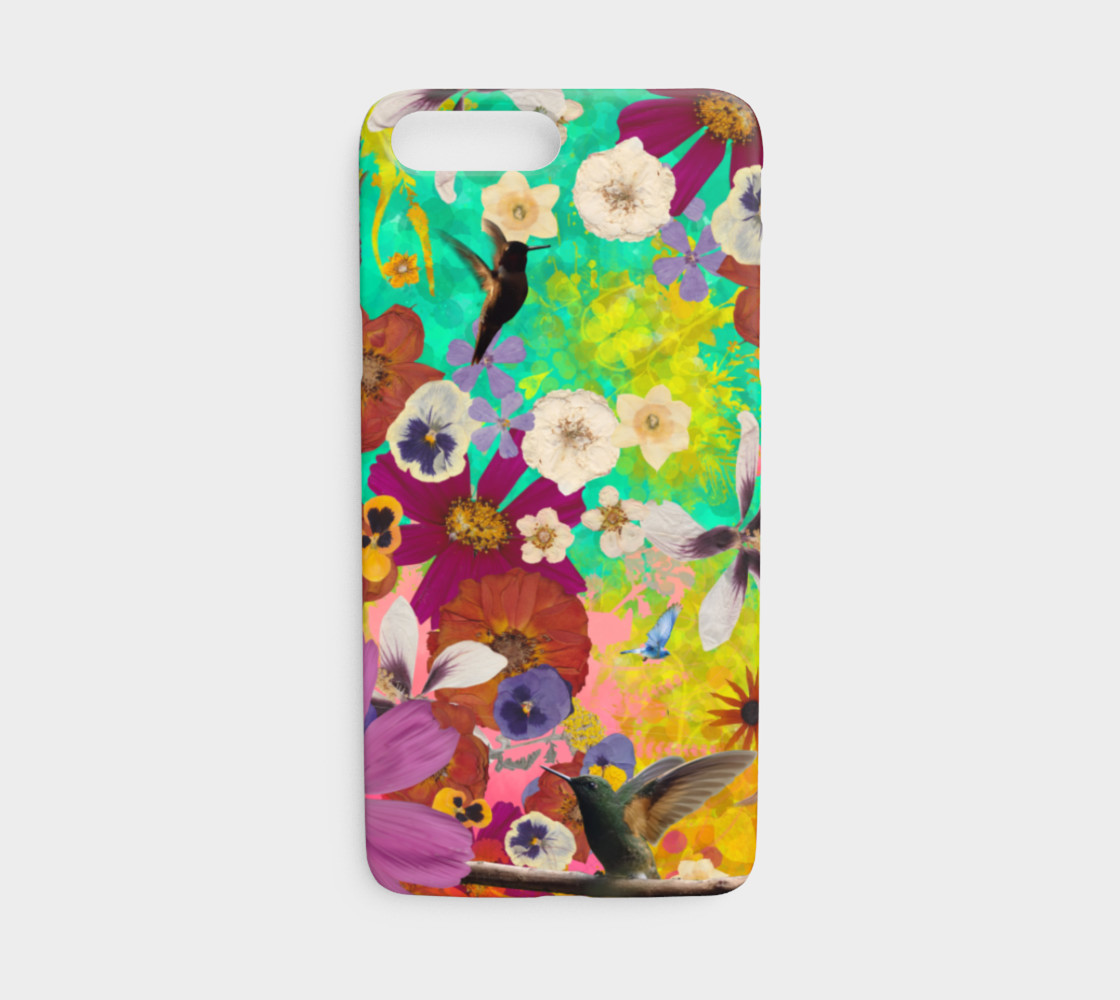 Hummingbird Collage iphone case preview #1