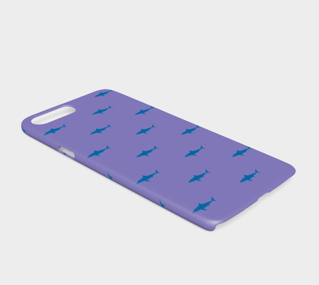 Shark - Blue on Purple preview #2