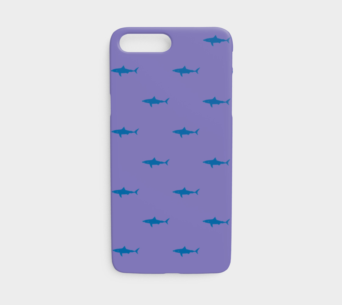Shark - Blue on Purple preview #1
