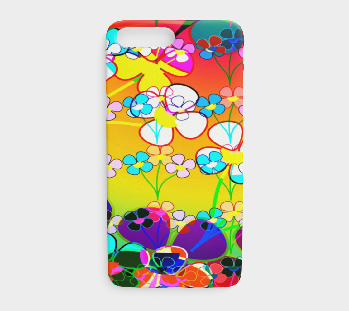 Abstract Colorful Flower Art Yellow Background Iphone 7 And Plus
