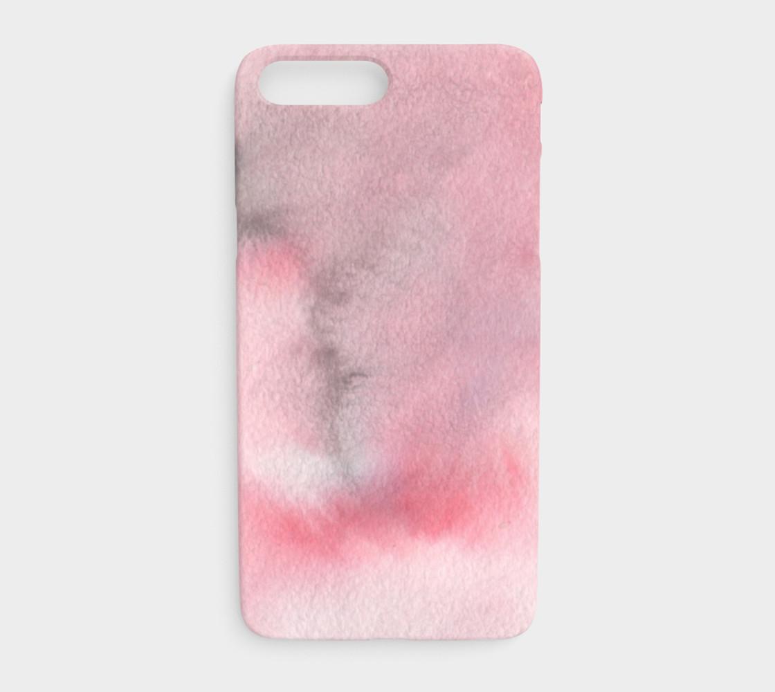 Watercolors Pink/Black iPhone 7+/8+ preview #1