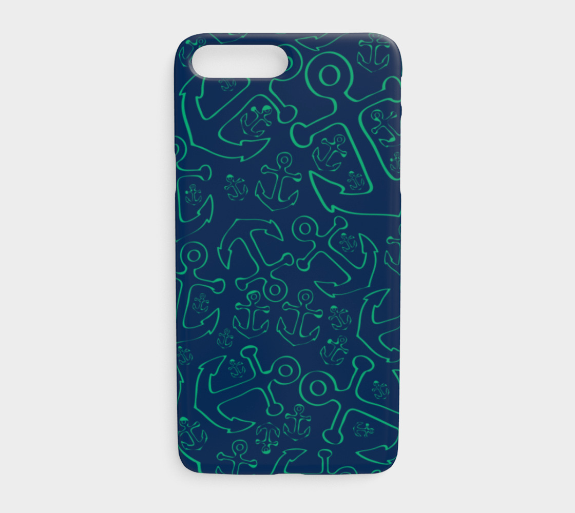 Anchor Dream - Green on Navy preview #1