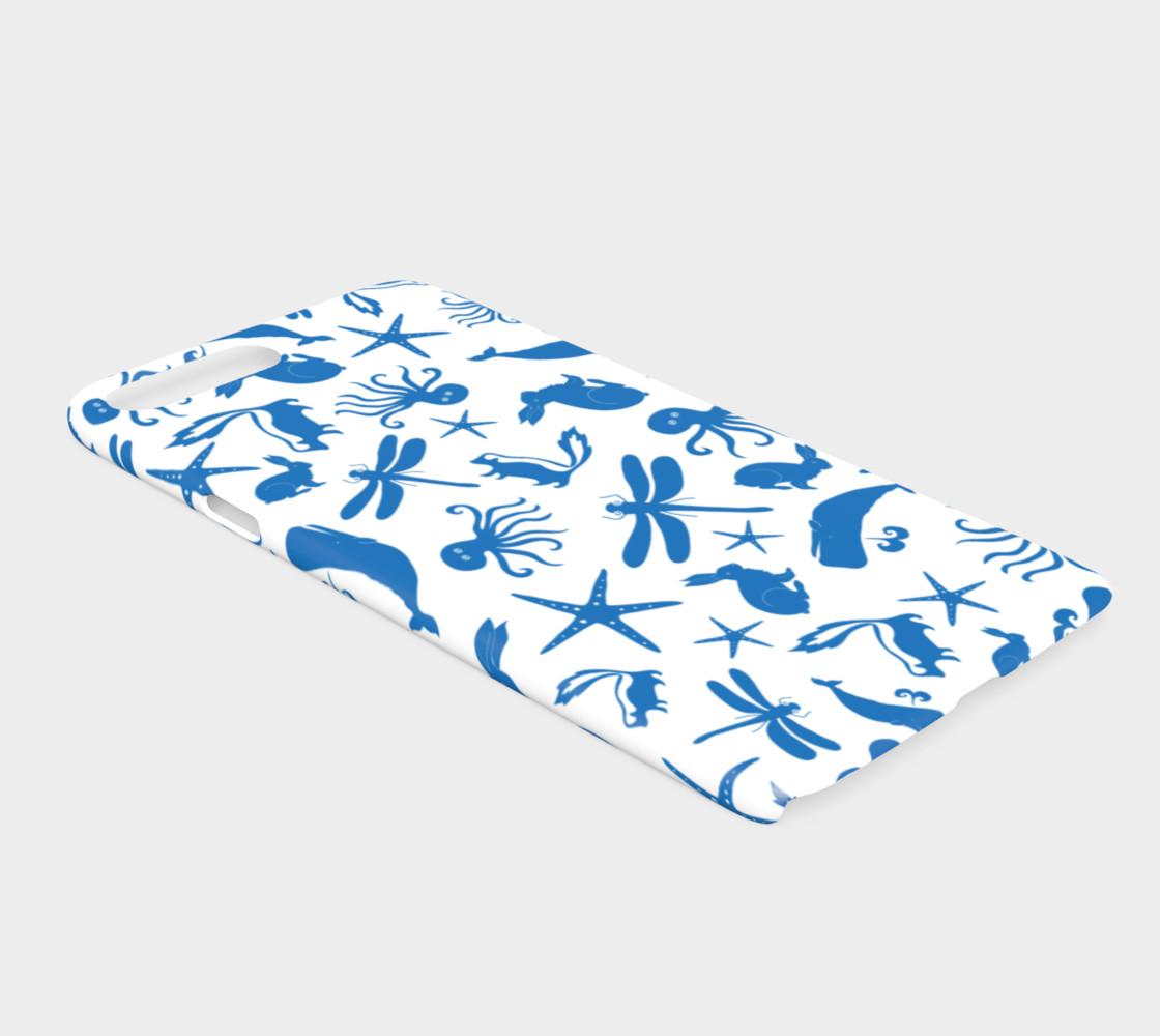 Multi Creature - Blue on White preview #2