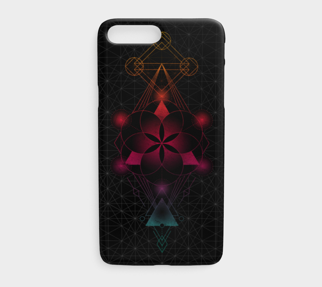 Flower of life sacred geometry rainbow preview #1