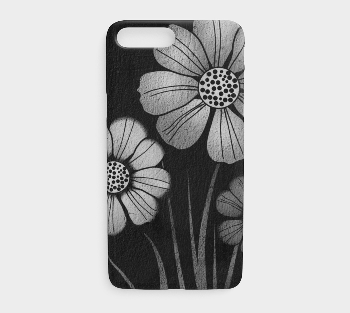Black Grey Cement Wall Floral Iphone Case Iphone 7 Plus 8 Plus