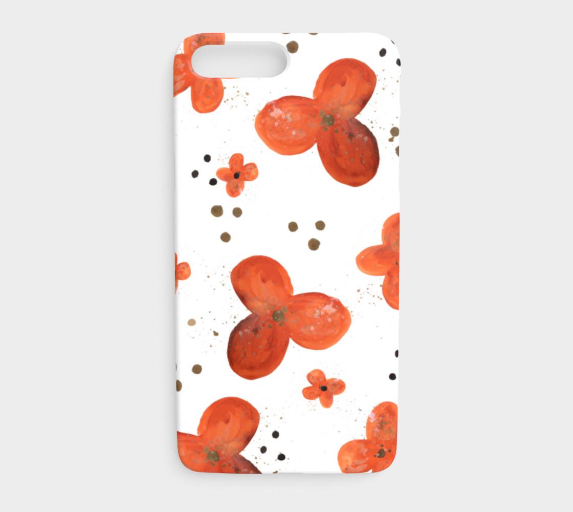Aperçu de Orange blossoms with dots phone case #1