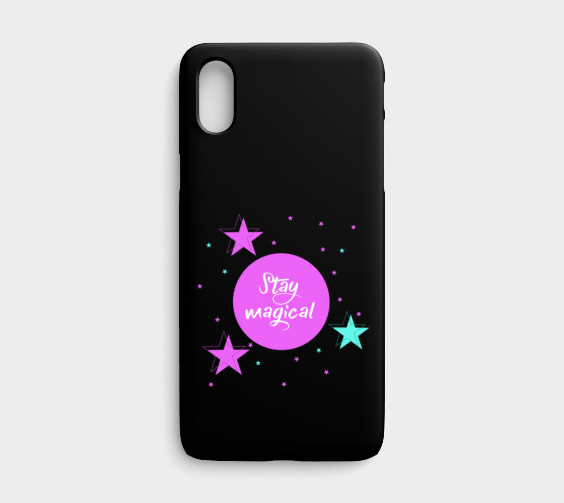 Stay Magical iPhone X Phone Case preview #1