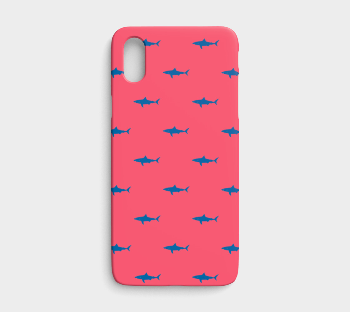 Shark - Blue on Coral preview #1