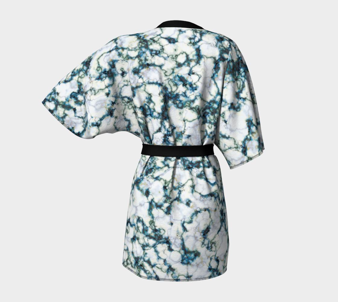 Blue Marble Kimono Robe preview #4