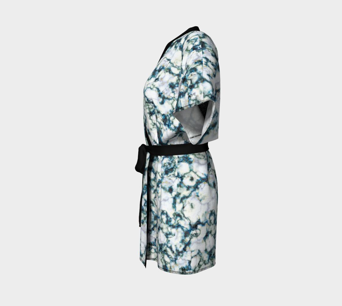 Blue Marble Kimono Robe preview #2