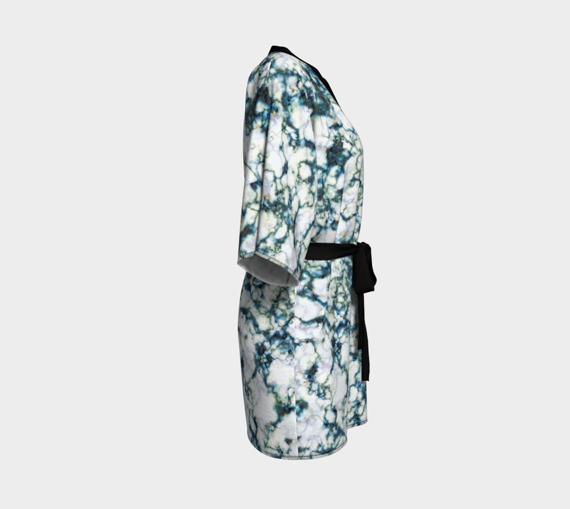 Blue Marble Kimono Robe preview #3