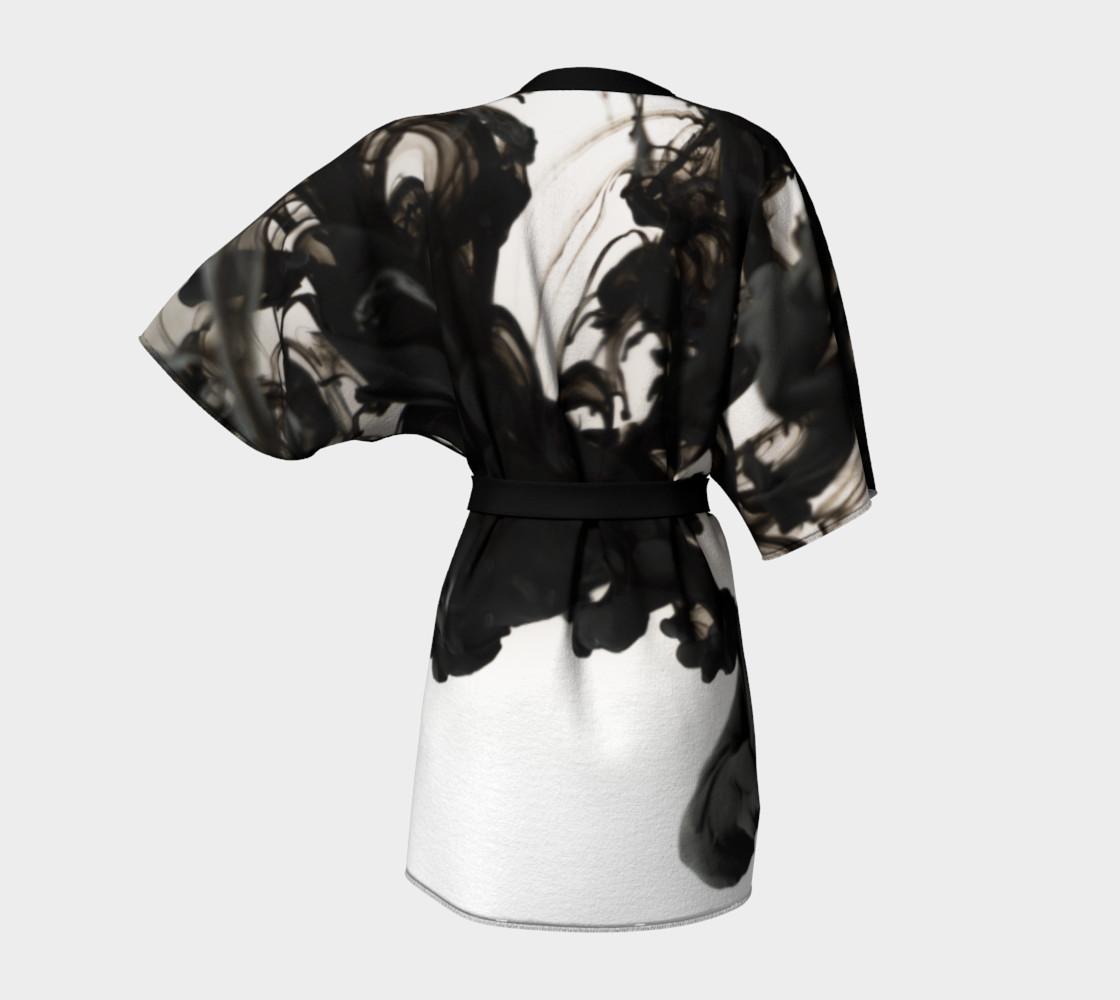 Black Ink Kimono Robe preview #4