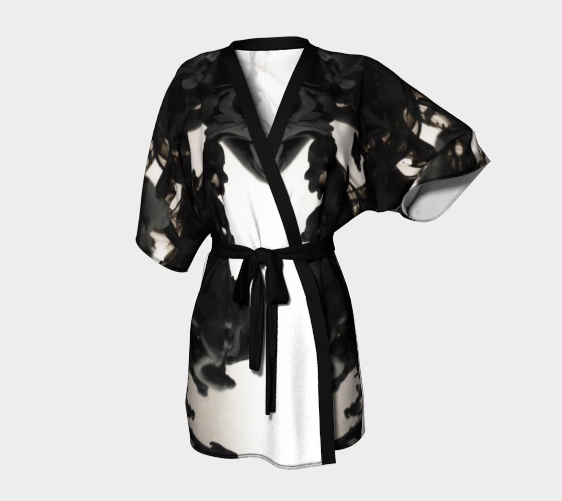 Black Ink Kimono Robe preview #1