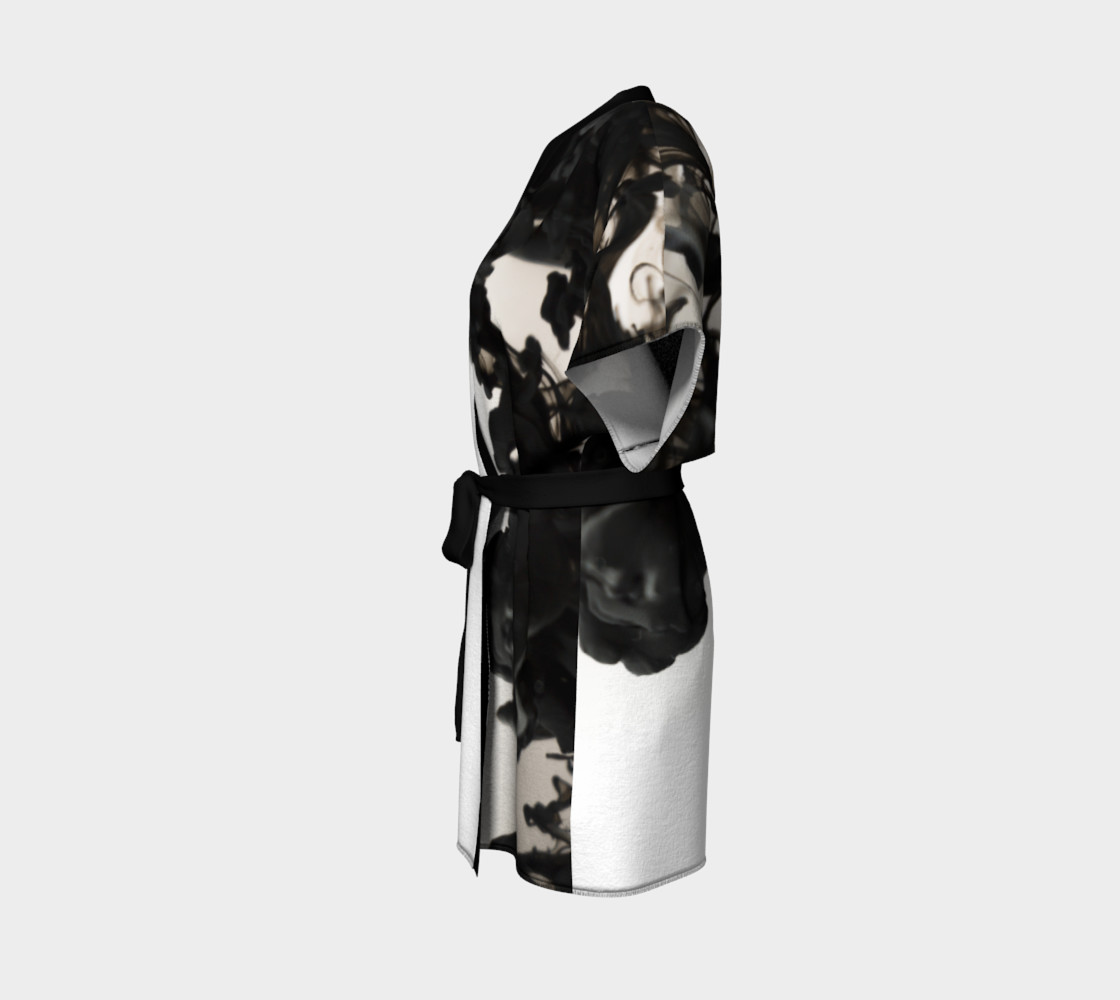 Black Ink Kimono Robe preview #2