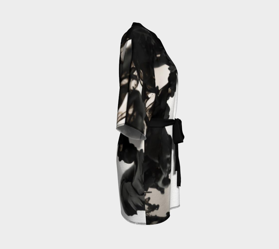 Black Ink Kimono Robe preview #3