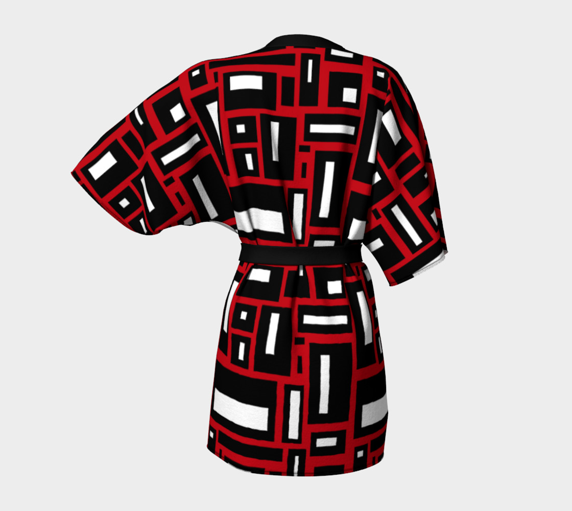 Simple Geometric in Black, White and Red 1 preview #4