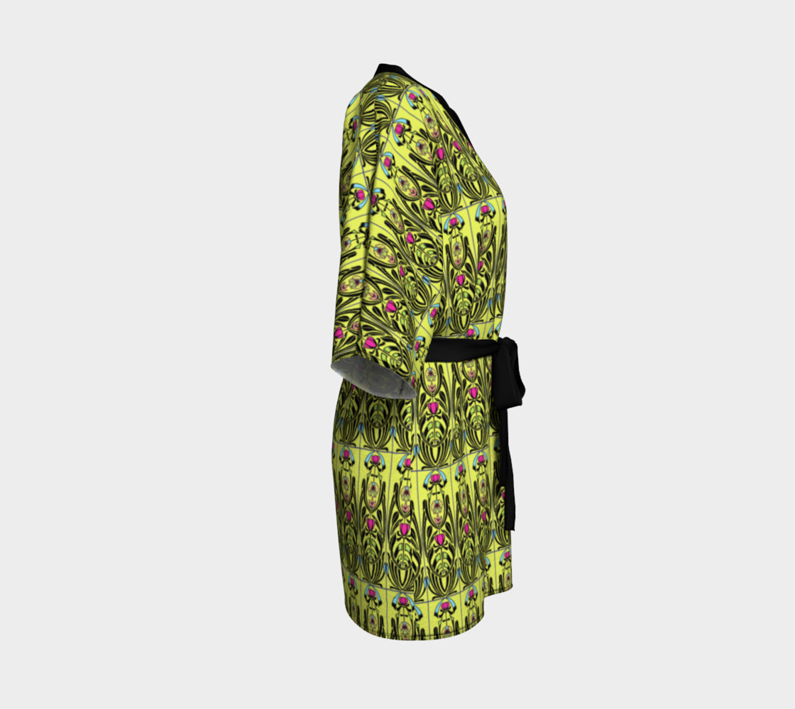 Aperçu de Yellow Nouveau Kimono #3