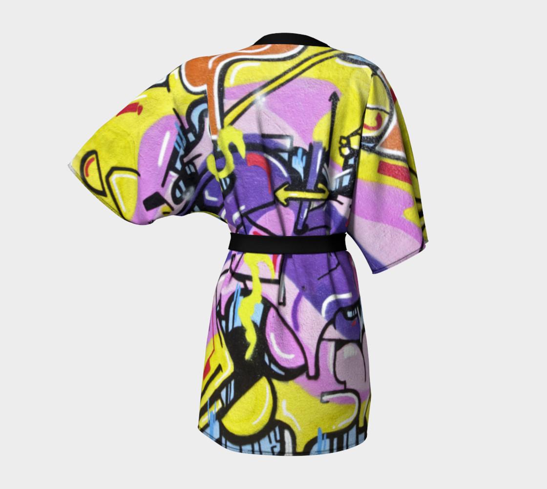 Grafitti kimono robe preview #4