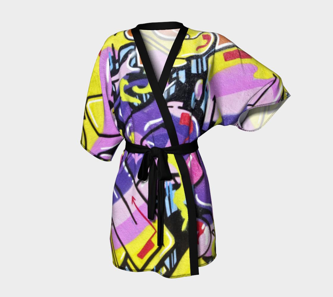 Grafitti kimono robe preview #1