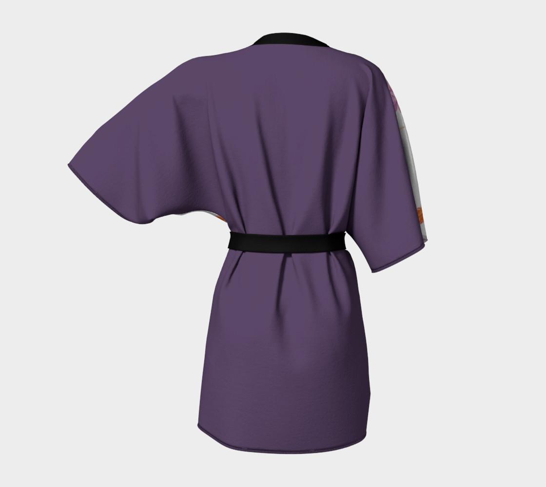 Phoneix Feather + Lotus Kimono Robe preview #4