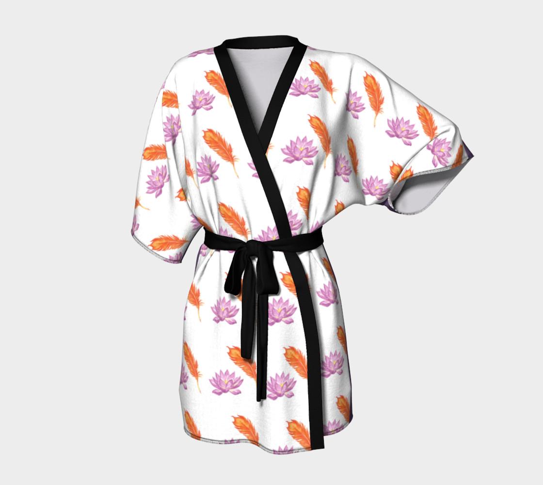 Phoneix Feather + Lotus Kimono Robe preview #1