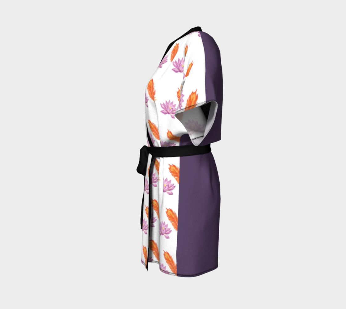 Phoneix Feather + Lotus Kimono Robe preview #2