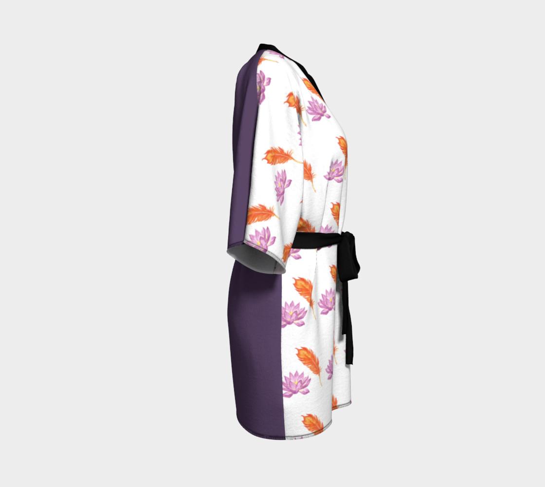 Phoneix Feather + Lotus Kimono Robe preview #3