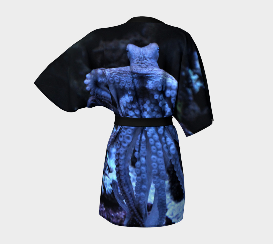 Dark Octopus Black Light Robe  preview #4