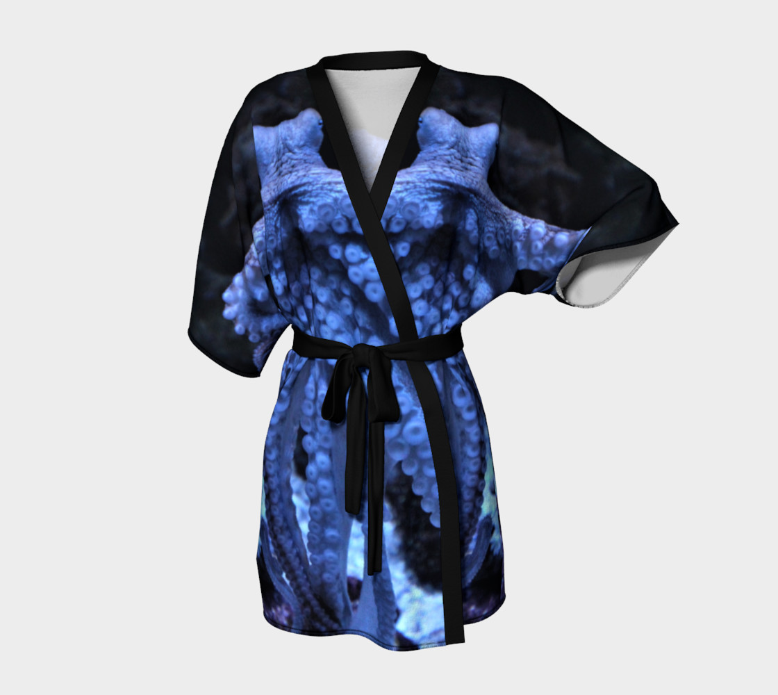 Dark Octopus Black Light Robe  preview #1