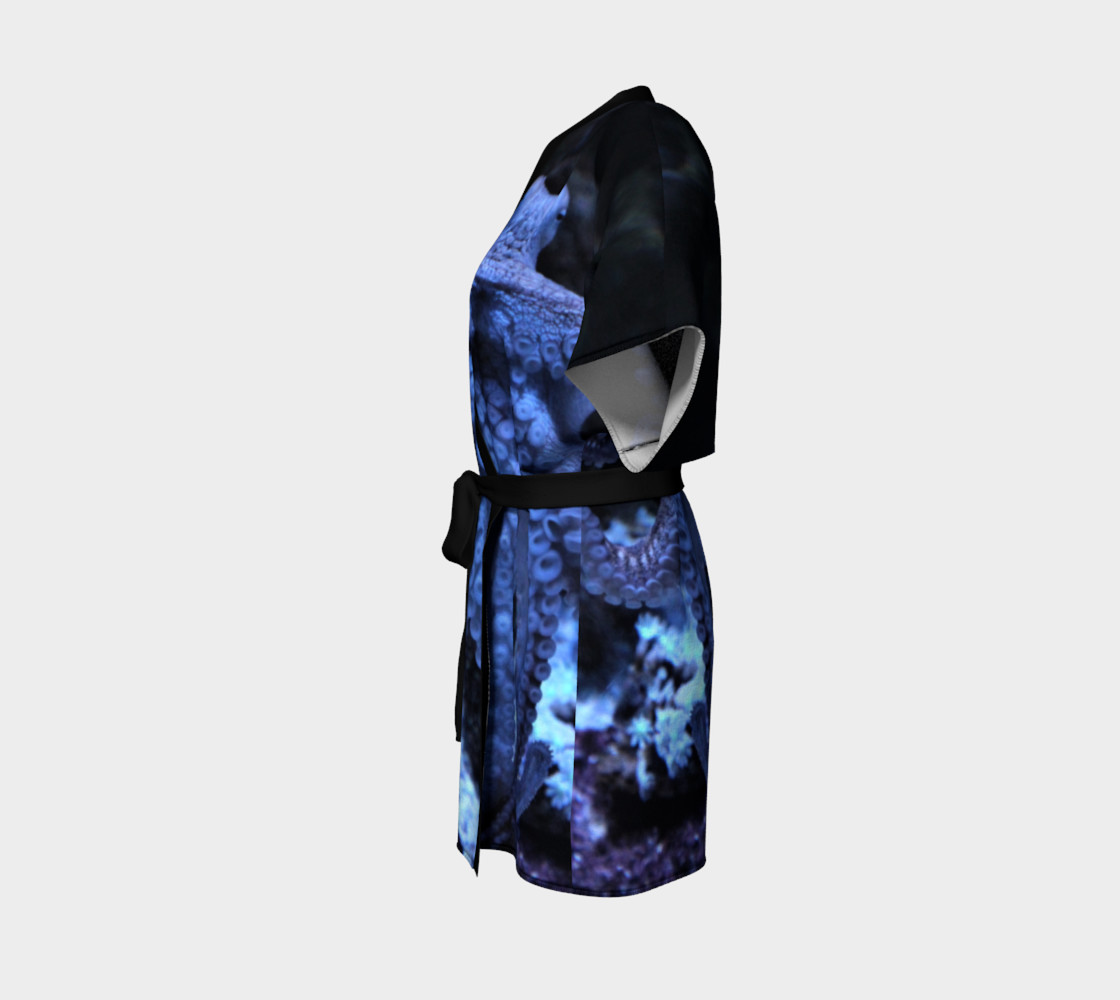 Dark Octopus Black Light Robe  preview #2