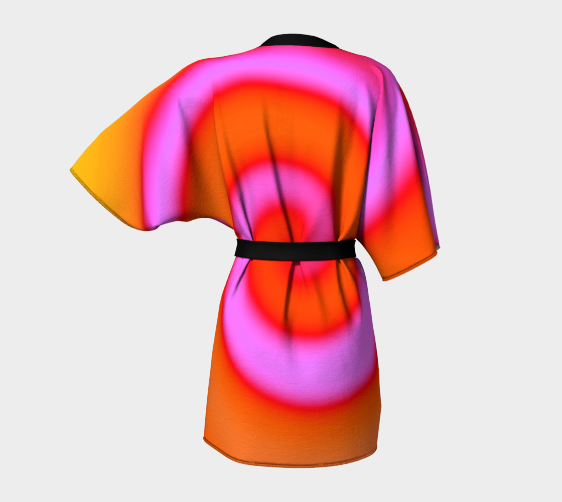 Bright Colorful Orange Pink Swirl Abstract preview #4