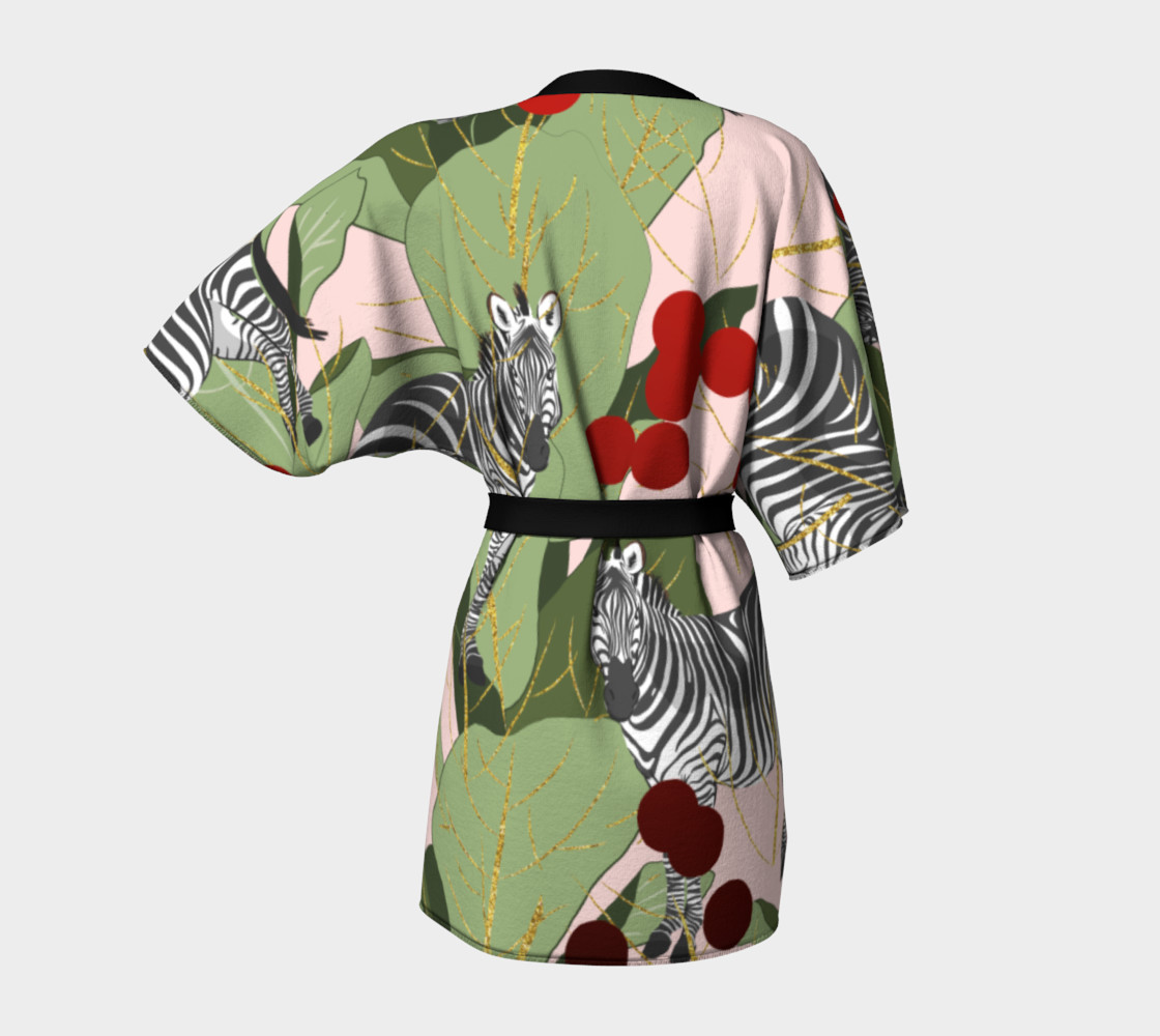 Zebra Harem Kimono Robe preview #4